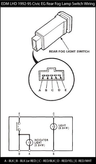 honda civic how to install rear fog lamp