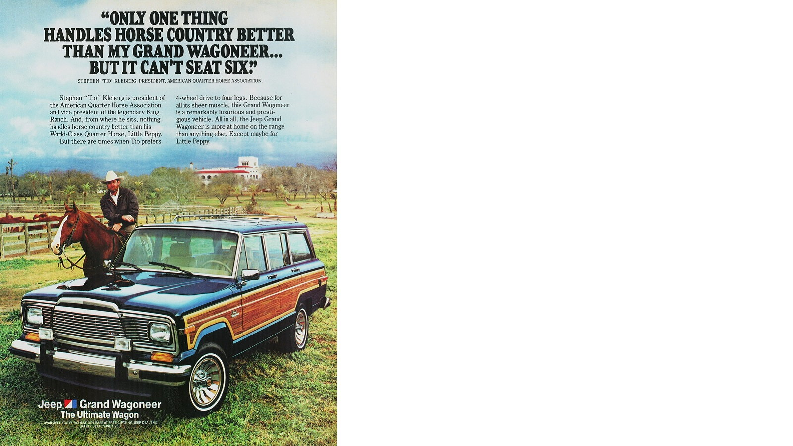 The Grand Wagoneer is better than a horse