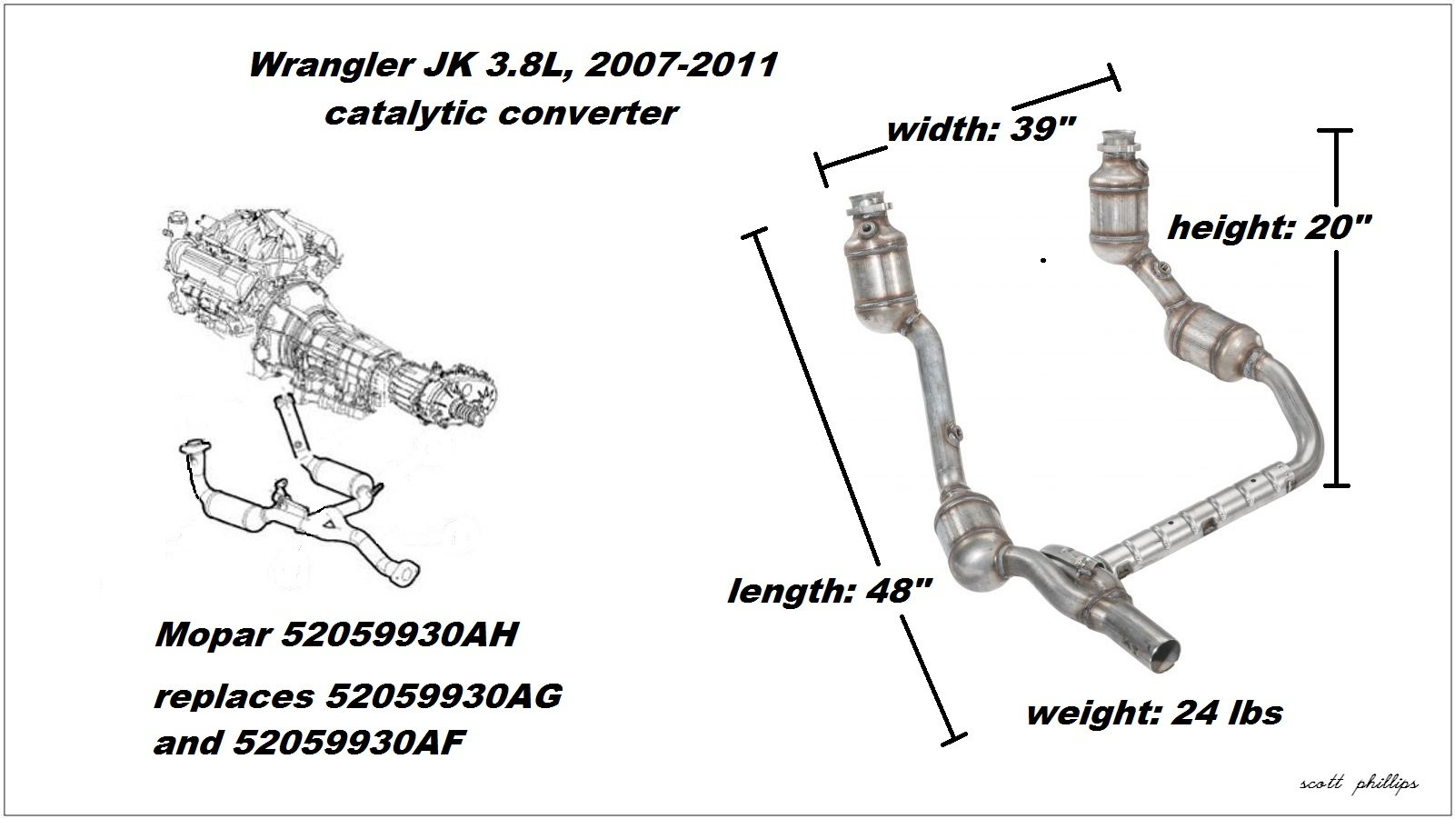 jeep wrangler jk 2007 to present how to replace catalytic figure 1 3 8l catalytic converter assembly