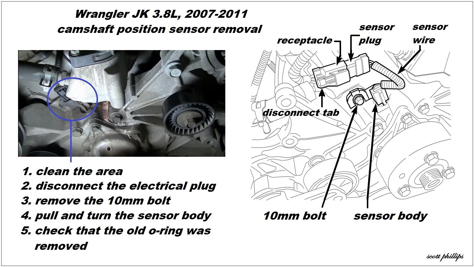 Jeep Wrangler Jk How To Replace Camshaft Position Sensor 407292 on jeep jk wiring diagram