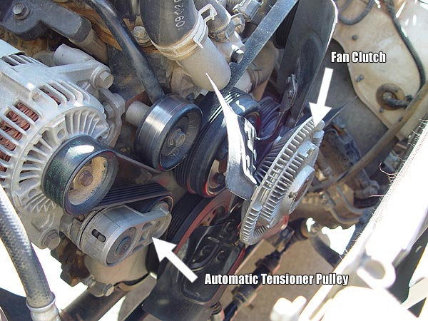 Waterpump on 2003 Jeep Liberty Thermostat Location