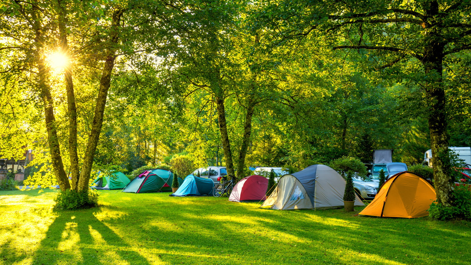 campground with tents