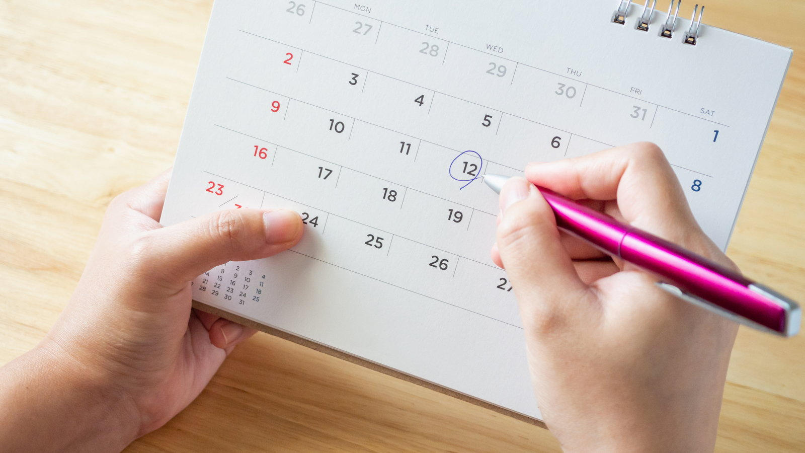 marking date on calendar