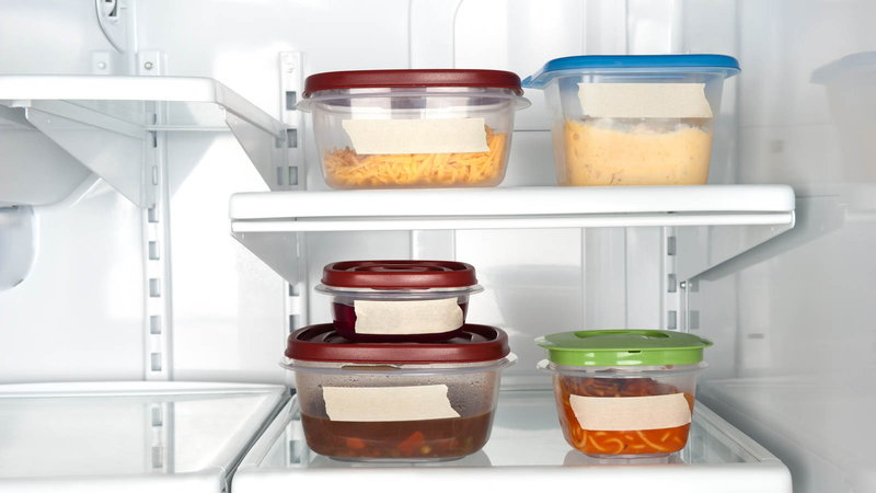 leftovers in refrigerator
