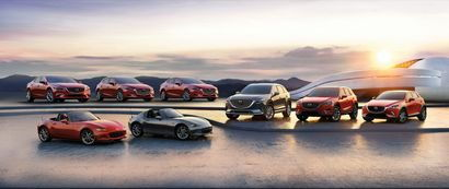 2017 model year Mazda vehicles
