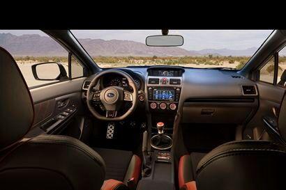 2018 Subaru WRX STI dashboard and center stack/console detail