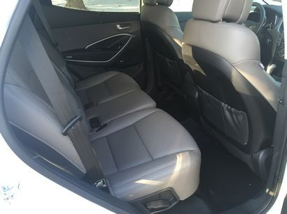 2016 Hyundai Santa Fe Sport AWD 2.0T rear seat detail