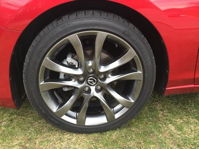 2016 Mazda Mazda6 Grand Touring alloy wheel and tire detail
