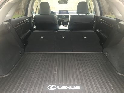 2016 Lexus RX 350 cargo area with the back seats folded