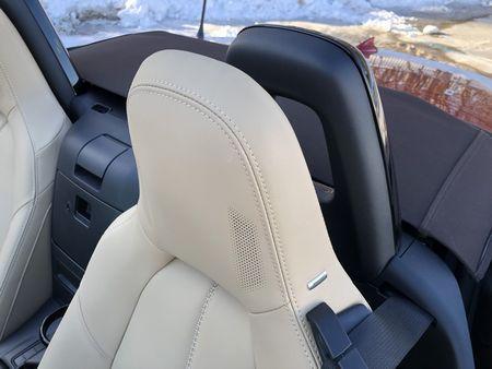 2019 Mazda MX-5 Miata Grand Touring headrest detail