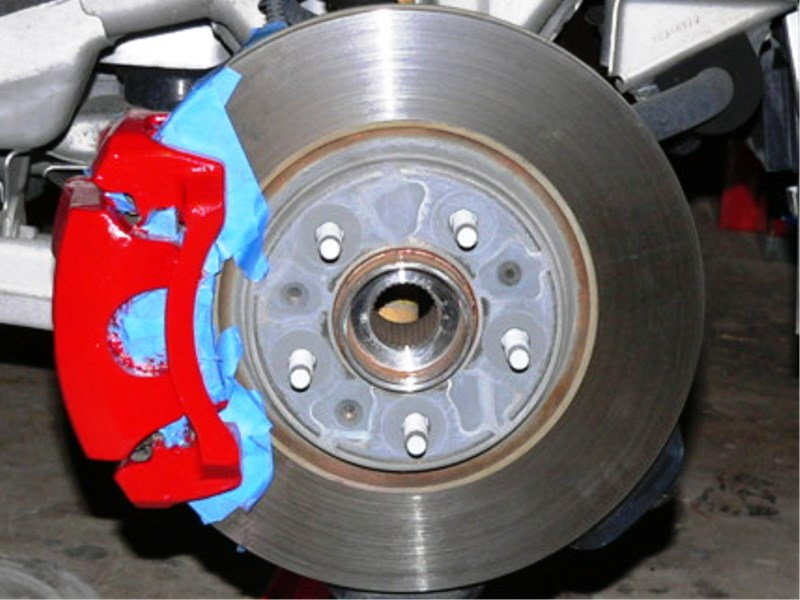 If you are brushing painting your caliper, this masking should be fine