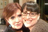 Mara Shapshay and Carrie Fisher