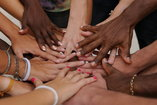 group of diverse hands
