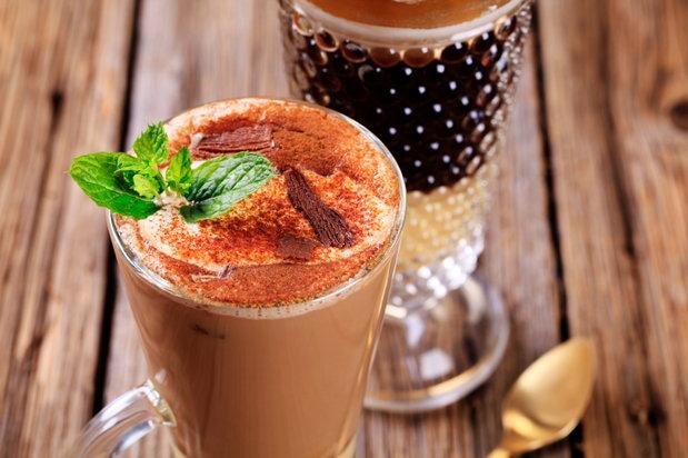 cup of coffee eggnog