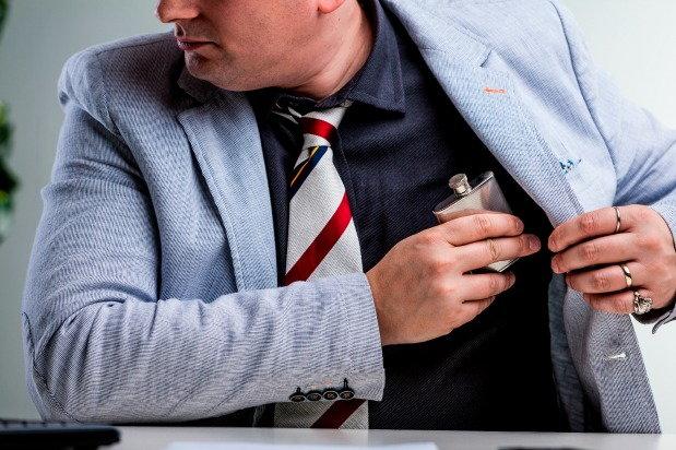 Man hides hides his alcohol problem