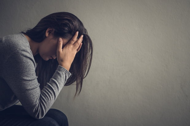 woman experiencing depression after using prescribed medication