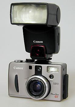 Canon PowerShot G1 with Canon 380EX speedlight