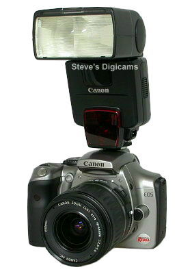 Canon EOS 300D Digital Rebel with Canon 550EX speedlight, image (c) 2003 Steve's Digicams