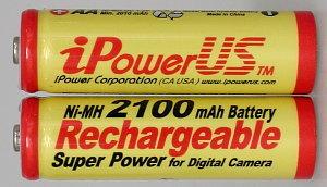 iPowerUS 2100mAh NiMH Batteries