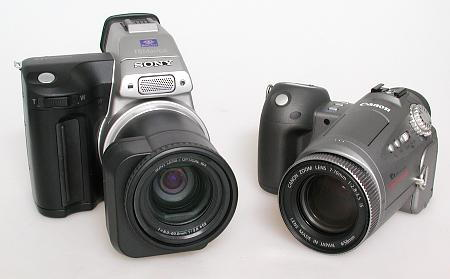 Sony MVC-FD97 and Canon Pro90 IS