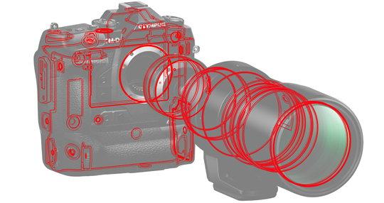 Olympus MC-20 Teleconverter diagram