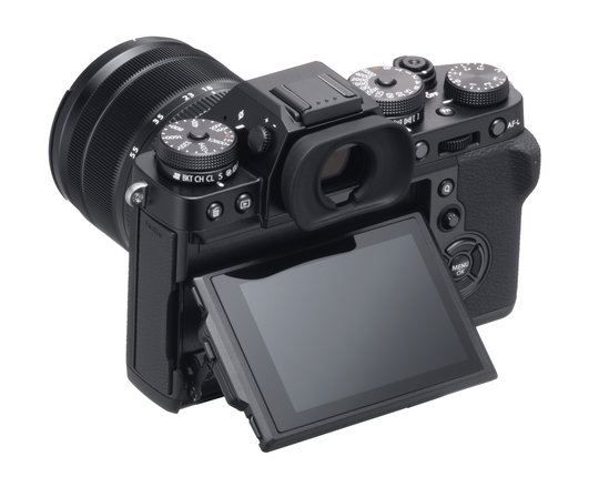 X-T3_Black_BackObl_MonitorUP+XF18-55mm.jpg