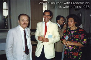 Walter DeGroot with Frederic Vin and his wife in Paris, 1987.