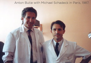 Anton Butie with Michael Schadeck in Paris, 1987.