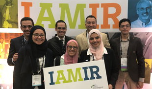 The 2018 class of International Scholars declare #IAMIR at SIR 2018 in Los Angeles.