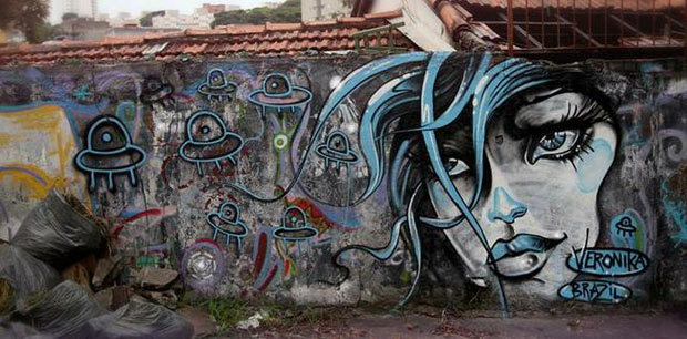 Graffiti in Sao Paulo, Brazil