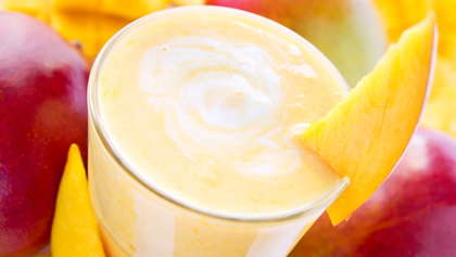 A refreshing mango smoothie.