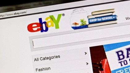 The front page of Ebay.com
