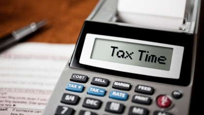 A tax form and calculator.