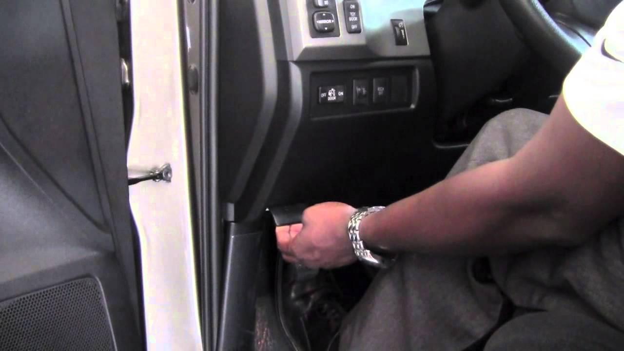 Hood release lever