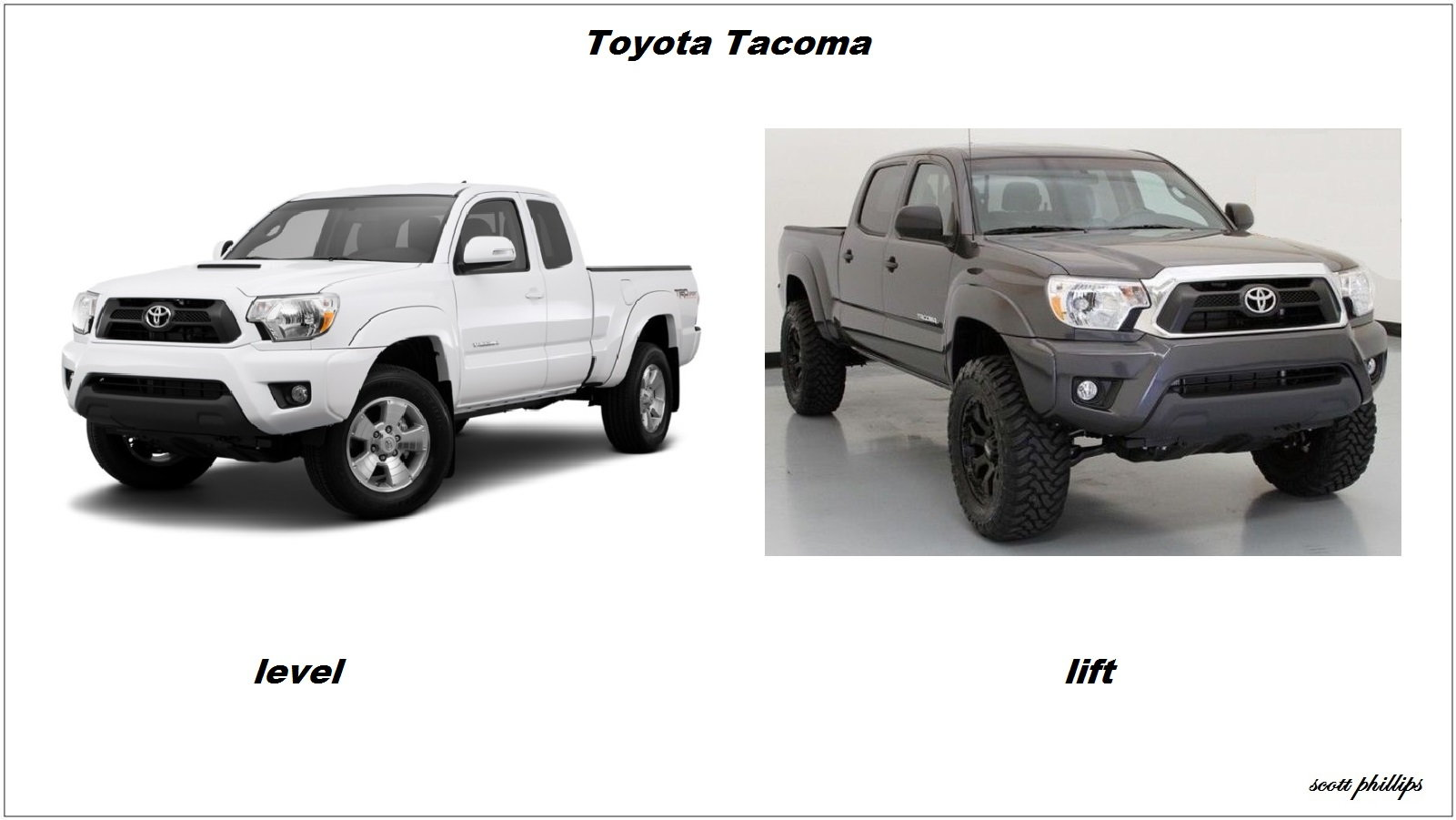 toyota tacoma lift kit springs dampers DIY modifications