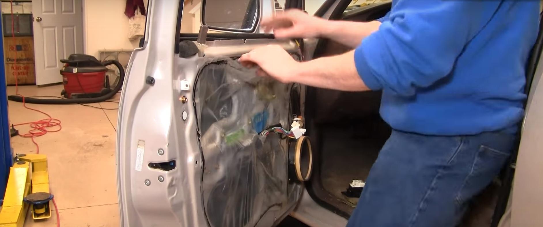 Carefully remove the plastic shield