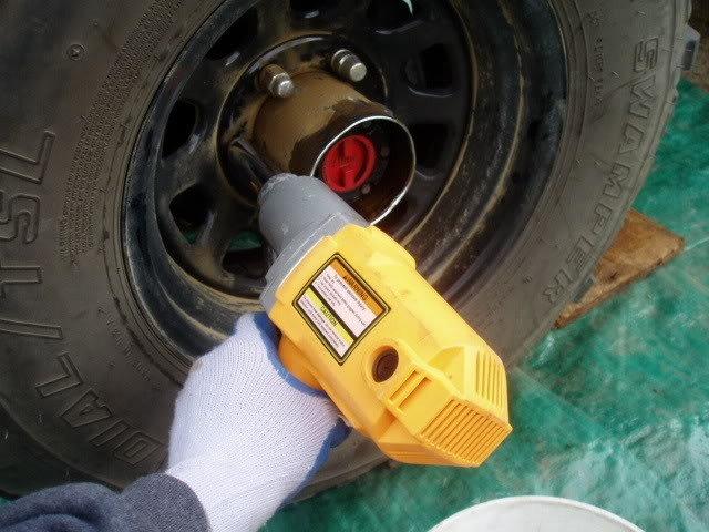 Removing wheels