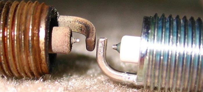 Good vs bad spark plug