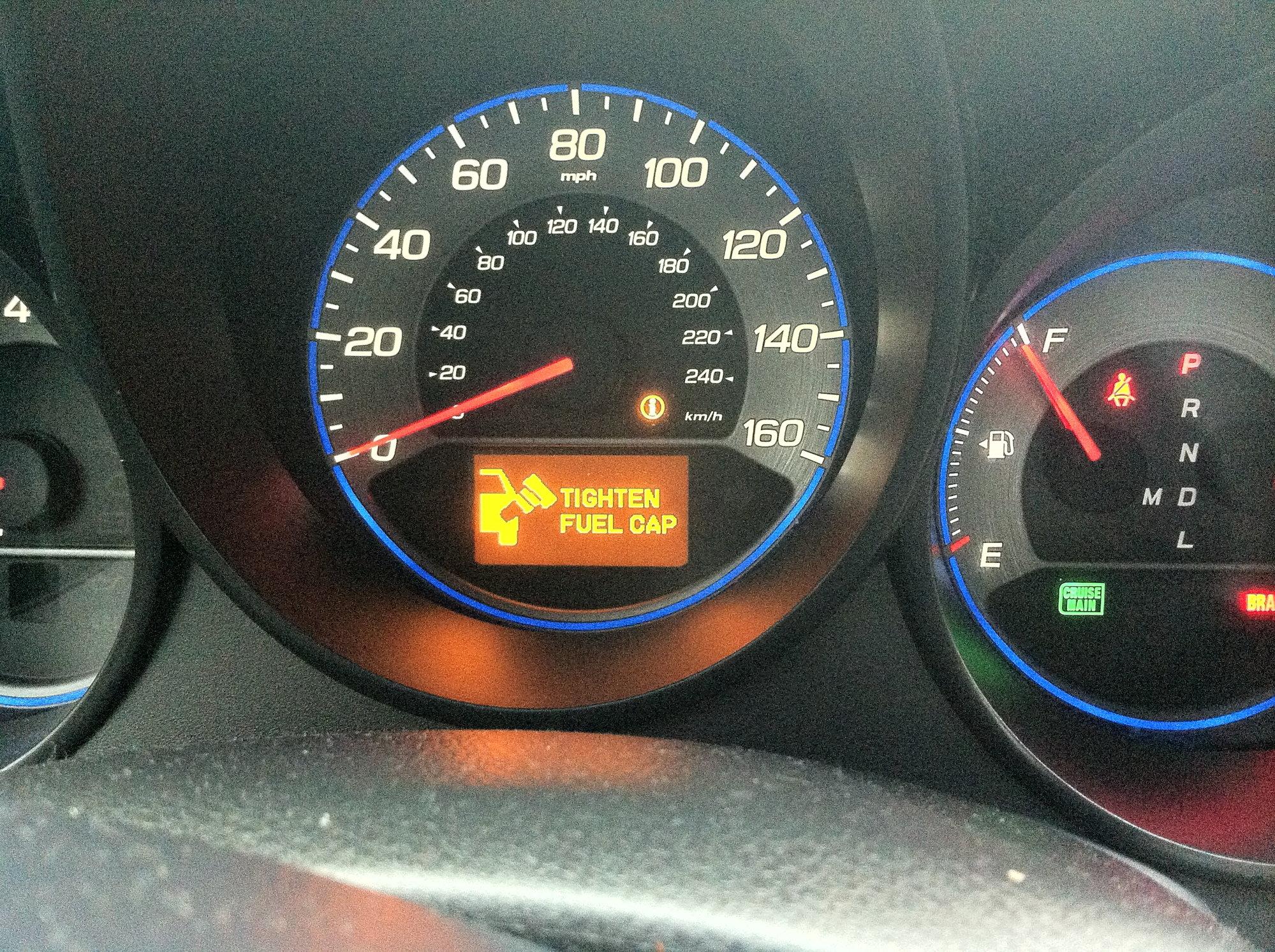 2007 Acura Tl Tighten Fuel Cap Warning Light Acurazine Acura
