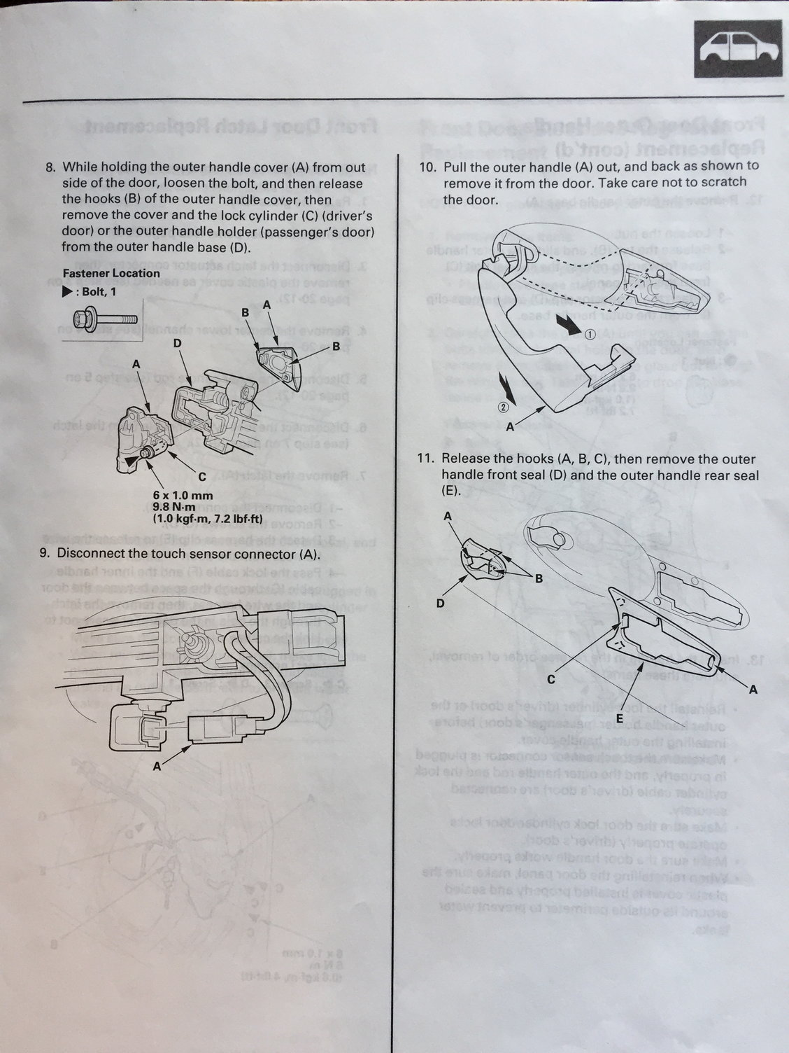 Keyless Entry Power Doors Locks Security Nav No Longer Work Acura Tl 2004 To 2014 Fuse Box Diagram Acurazine Need The Door Light Sensor Communicating With Fob How Do I Leave It Disconnected So As Avoid This Silliness Again