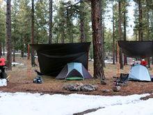 Tarp shelter setups