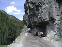 Nice Rock Overhang, Silverton, CO area.August 2003.