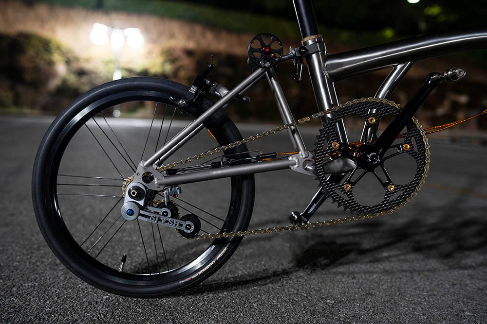 Full titanium Brompton clone, now done (pics) Bike Forums