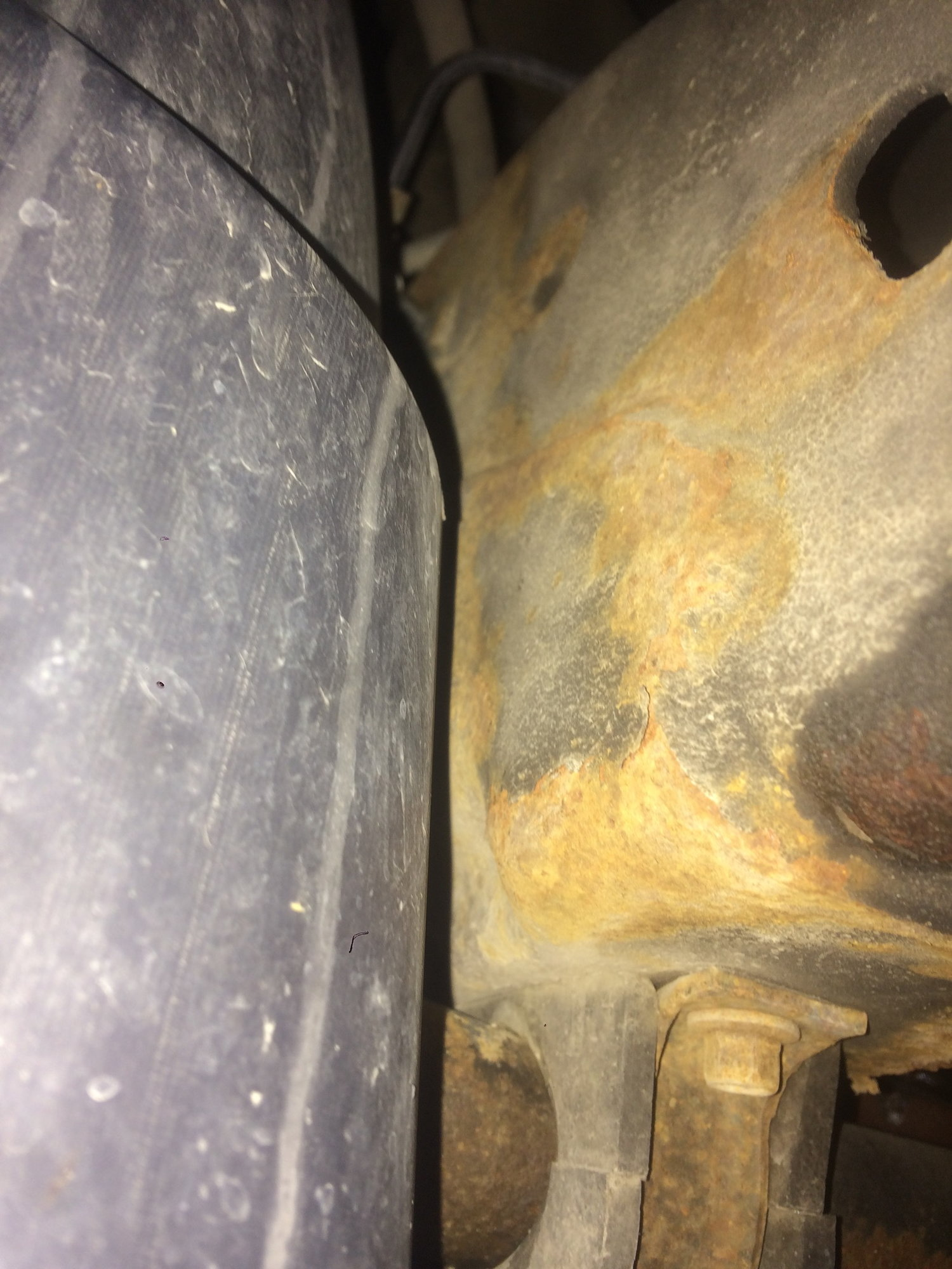 2008 Suburban 1500 sway bar mount tore out of the frame