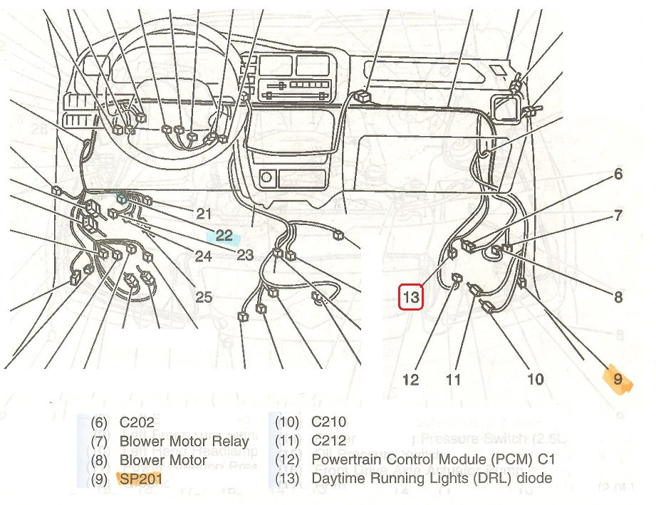Drl Diode Location Chevrolet Forum Chevy Enthusiasts Forums