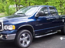 2003 dodge ram 1500 hemi (took that badge off) had a cai, tb spacer, headers and a bit of exterior mods. 20in Panther wheels wrapped in hankook tires traded in for a dodge caliber on september 16, 2007.