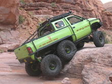 Prittchet Canyon in Moab.  Dodge T-Rex makes it simple.
