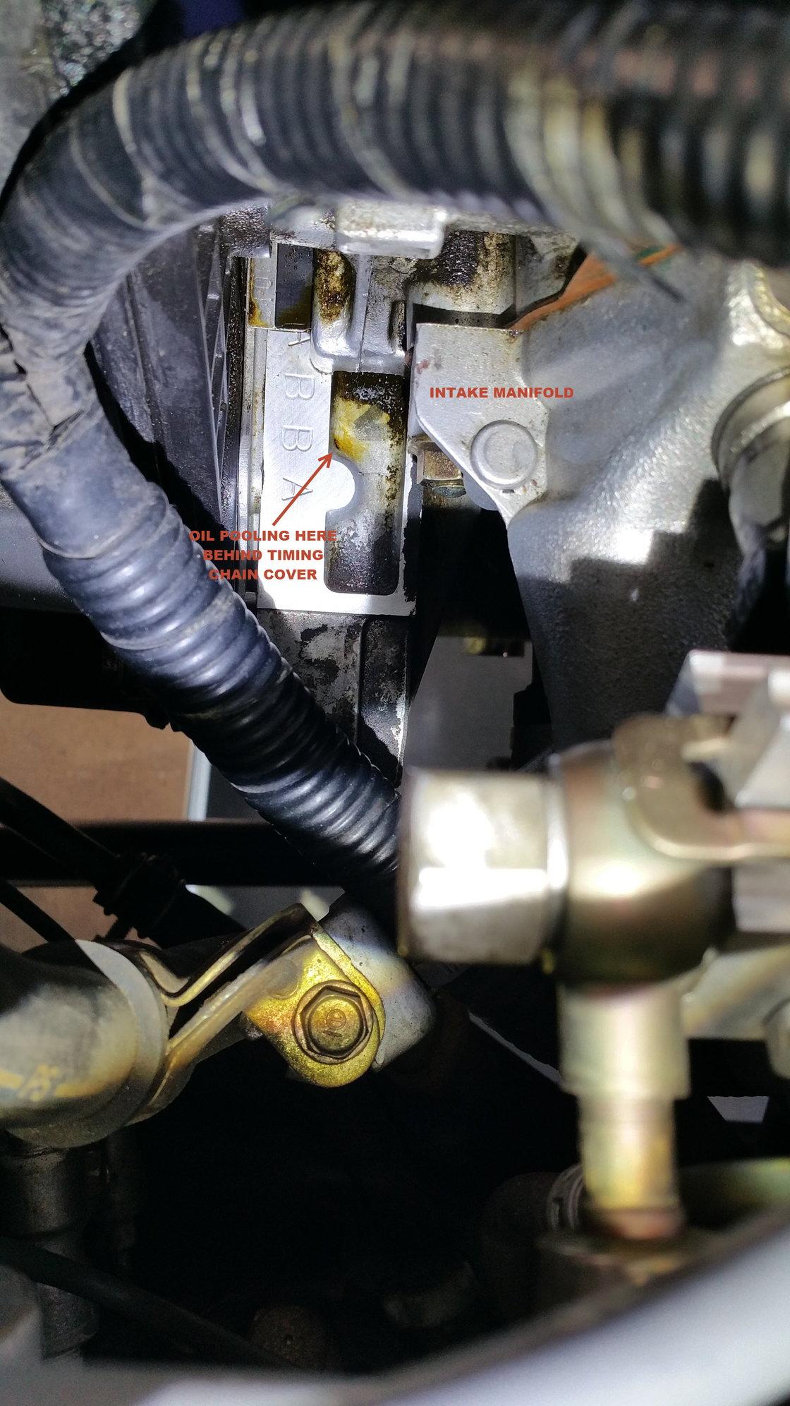 Oil Leak after timing belt change - Honda-Tech - Honda Forum