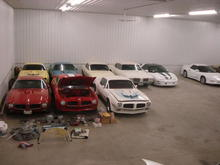 Few of our Trans am's and Firebirds..one mustang, and one cutlass