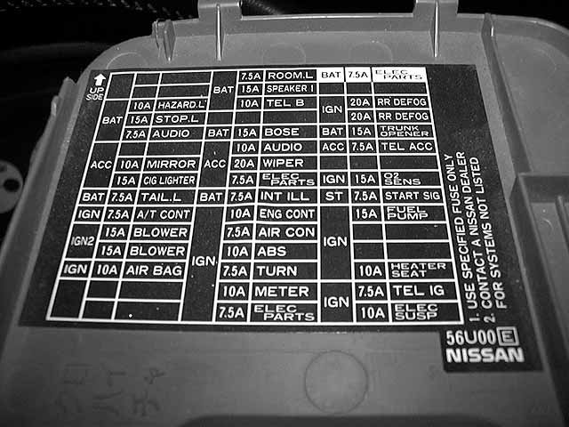 27 2012 Nissan Maxima Fuse Box Diagram